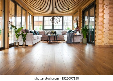 interior in a living room in a private house