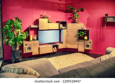 interior of living room with tv furniture