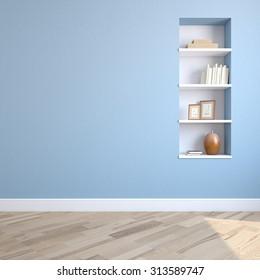 Interior of living-room. 3d render.
