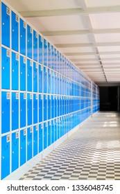 Interior of a locker