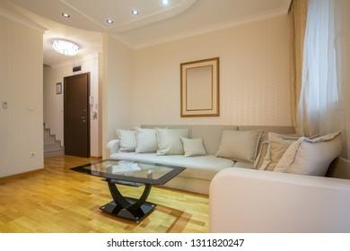 Interior of a loft apartmet living room