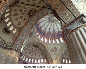 Interior look of Sulaymaniyah mosque dome, Istanbul