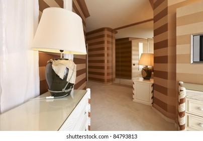 interior luxury apartment, detail room, passage