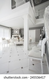 Interior of luxury apartment in vintage style