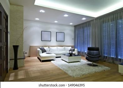 Interior of a luxury living room