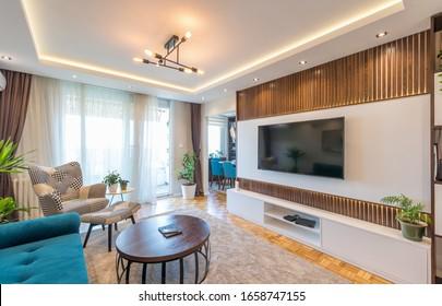 Inneneinrichtung eines luxuriösen Wohnzimmers