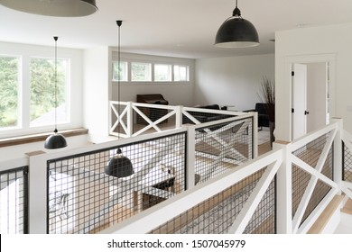 Interior of a luxury suburban farmhouse mansion