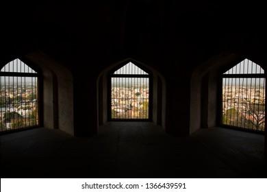 Interior of Man Singh Palace in Jhansi Fort under Archaeological Survey of India located at Jhansi city Uttar Pradesh India