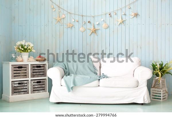 Interior in marine style