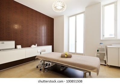 interior of massage room in a spa salon - Table Salon Design