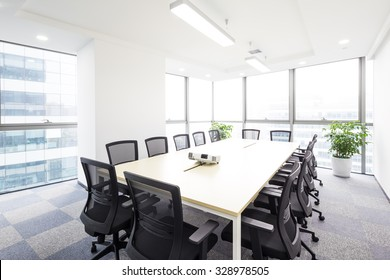 interior of meeting room in moder office