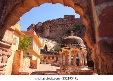 Interior of Mehrangarh Fort, Jodhpur, Rajasthan, India