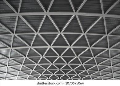Interior of metal roof, Steel roof