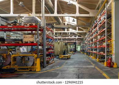 The interior of the metalworking shop. The interior of the metalworking shop. Modern industrial enterprise.