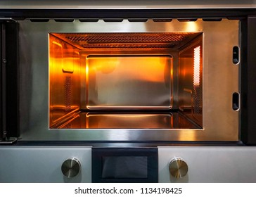 Interior of Microwave oven