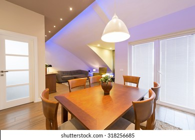 Interior of a modern apartment - dining area