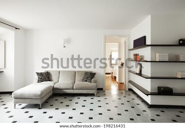 Interior of modern apartment, living room