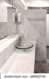 Interior of a modern bathroom. polished concrete style