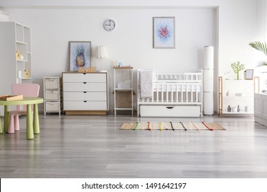 Interior of modern children's room
