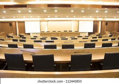 interior of modern conference hall
