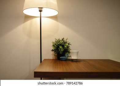 Interior of a modern dining room. Dining table. Living room table