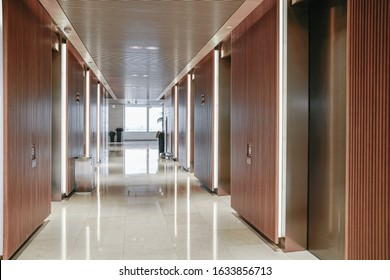 interior of modern entrance hall in modern office building.