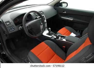 interior of modern european car, stylish colors
