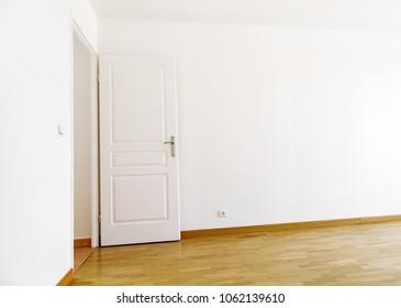 Interior of modern home with door open