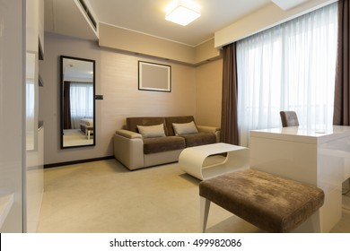 Interior of a modern hotel apartment