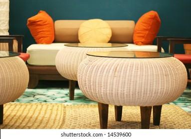 Interior of a modern house - home interiors.
