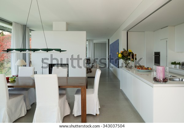 Interior Modern House Nice Dining Room Stock Photo (Edit Now ...
