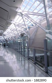 Interior of modern international airport