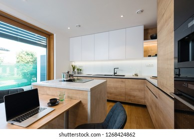Interior of modern kitchen in a house