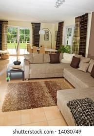 Interior of a modern living room.