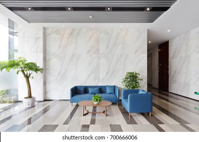 interior of modern lobby in office building