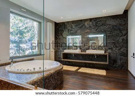 Interior modern luxurious bathroom jacuzzi stock photo edit now
