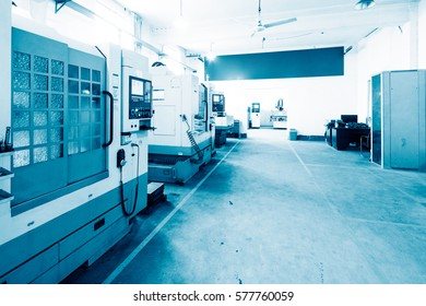 interior of modern manufacturing factory