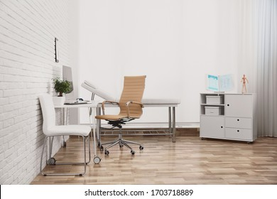 Interior of modern medical office. Doctor's workplace