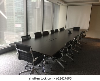 Interior of modern meeting room or conference room.