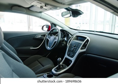 Interior of a modern new car.