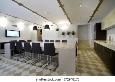 Interior in modern office.