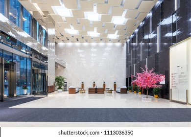 interior of modern office lobby