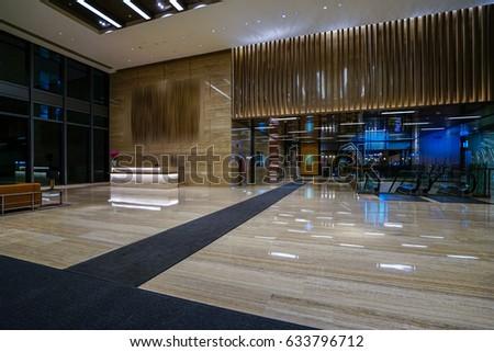 Interior Modern Office Lobby Stock Photo Edit Now 633796712