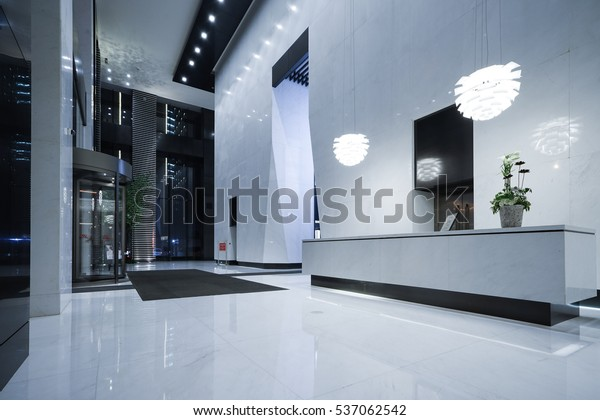 Interior Modern Office Lobby Stock Photo (Edit Now) 537062542
