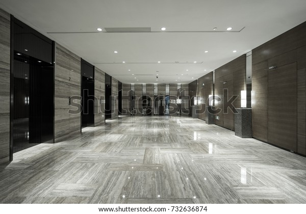 Interior Modern Office Lobby Stock Photo (Edit Now) 732636874