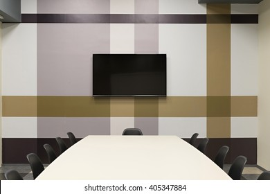 Interior of a modern office meeting room