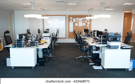 Interior Of Modern Open Plan Office With No People