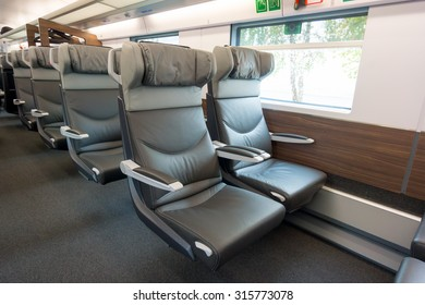Interior of a modern passenger wagon