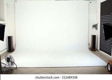 Interior of the modern photo studio