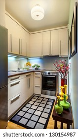 Interior of a modern small kitchen.